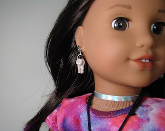 "Spacesuit Earring Dangles for 18"" Play Dolls such as American Girl® Luciana"