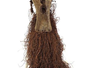 Songye Kifwebe Mask Female with Raffia Decoration Africa 111162