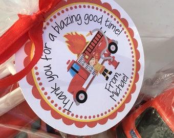 Firetruck Birthday, Fire Truck, Fireman, Firetruck, Favor Tag, Fireman Party, Fireman Birthday, Firetruck Tag Firetruck Favor Tag