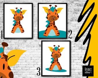 Giraffe * * Wall Print, illustration, nursery wall decoration, wall art, children wall Art-giraffe * * Wall frame, children bedroom, decoration