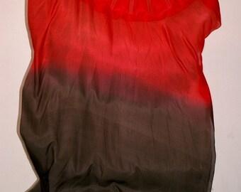Fan Veil Set (2fans): Color-Tulip Series-Fire Red/Black (Best seller!)