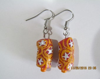 Hand Painted Star Earrings