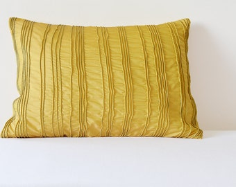 Yellow Textured Cushion Cover , Yellow Pillow Covers with Corded Texture , Yellow Decorative Pillow , Yellow Pillow Cover , Yellow Cushion