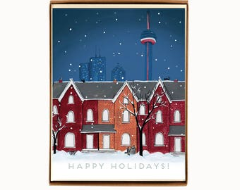 Boxed Set - Holiday Cards - Toronto Night Scene - Toronto-themed - happy holidays
