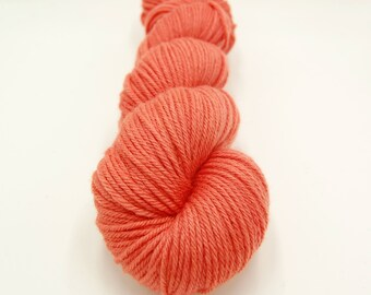 Merino Worsted Hand Dyed Yarn - Coral