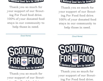 Scouting For Food Generic Thank You Card 2