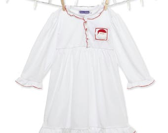 Smocked Santa Night Gown