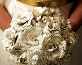 Paper Wedding bouquet, Alternative bouquet, Book page bouquet, Bridal bouquet, Wedding bouquet, Weddings, Paper flowers