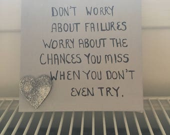Positive quote canvas