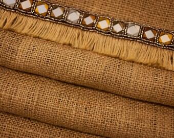 Burlap Table Runner Rustic Wedding Table Vintage Table Linen