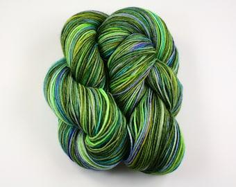 Emerald City--hand dyed sock yarn, merino and nylon, (463yds/100gm)