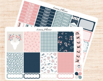 Fall in Love Little Weekly Kit (matte planner sticker, fits perfect in Erin Condren Life Planner Vertical)