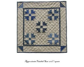 Goose Tracks Quilt Pattern PDF Reproduction Traditional Style QRD389