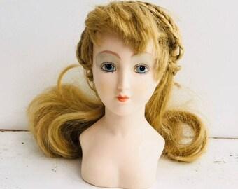 Vintage Dolls Head Blonde