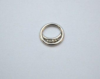 Septum Piercing, Daith earring hoop, Nipple piercing jewelry, Daith earring 16g, Septum earring