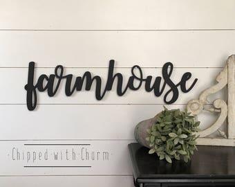Farmhouse Sign, Farmhouse Word Cut-out, Farmhouse Wall Decor, Fixer Upper Style Decor