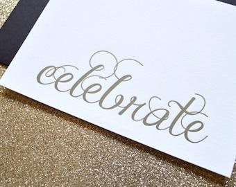 Celebrate : Letterpress Notecard