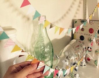 Wedding or Birthday mini triangle garland / banner / bunting