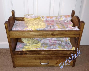 Doll Bunk Bed - American Girl Doll - My Generation Doll - Doll Furniture - Doll Bed