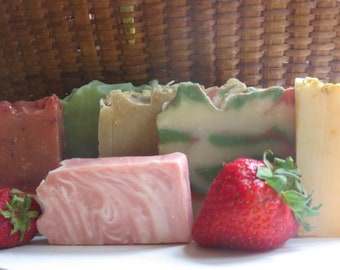 Soap Grab Bag, All Natural Soap Ends, Variety Pack, Soap Sampler, Clearance Soap, Sale Soap, Artisan Soap, New Hampshire Soap, Assorted Soap