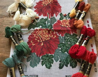 1/2 Cross Stitch/Floral/Tapestry