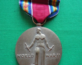 WW2 Victory Medal and Ribbon