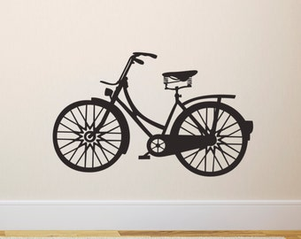 Vintage Bicycle Wall Sticker - Retro Bike Wall Decal