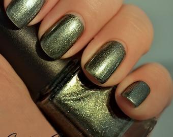 Ego Trip - Golden Green Blue Duochrome Shimmer Nail Polish