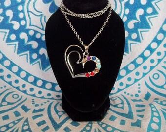Chakra heart necklace