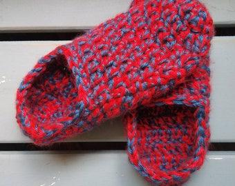 Children's Crochet Slippers-custom colors and sizes