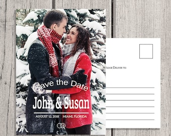 Save the Date Cards, Save the Date, Photo Save the Date, Invitations, Personalized Save the Date, Engagement Announcement