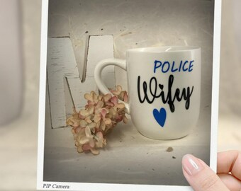 Police Wifey, coffe mug, personalized
