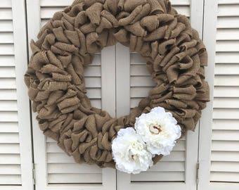 Burlap wreath (18 inch)