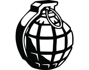 grenade svg etsy rh etsy com Grenade Drawing Rose Vector