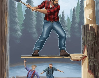 Lumberjack Montage (Art Prints available in multiple sizes)