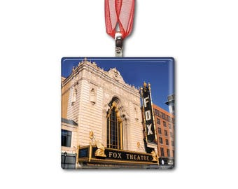 Fox Theater in St. Louis - Handmade Glass Photo Ornament