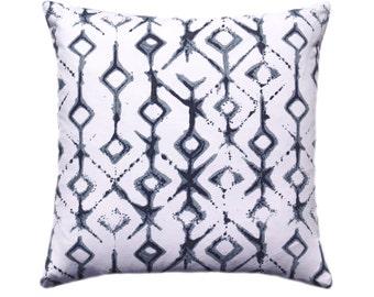 Navy Pillow Cover, Tribal Pillow Cover, Decorative Pillow Cover, Couch Pillows Size Choice, Tribal Vintage Pillow Cover with Hidden Hipper,