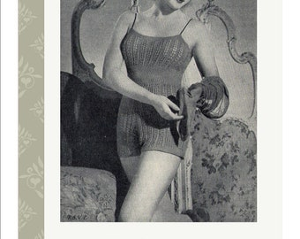 1940s Lace Cami-knickers Lingerie Vintage  Knitting Pattern PDF ladies  Large and Small Sizes Instant Download
