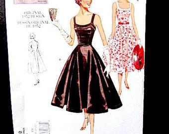 Vogue uncut pattern, vogue vintage pattern, Vogue 1952 pattern,  dress pattern, vintage 1952, original 1952, mid century dress, sun dress