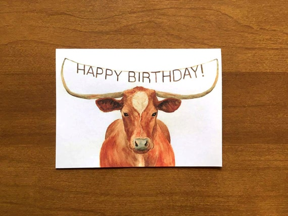 Texas longhorn happy birthday card birthday cards for texas longhorn happy birthday card birthday cards for ranchers birthday card for boyfriend cards for texans texas longhorn gift bookmarktalkfo Gallery
