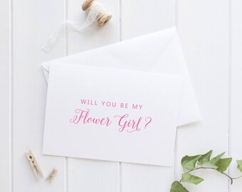 Will you be my Flower Girl Card, Flower Girl Proposal, Bridesmaid Proposal Card, Be my Bridesmaid Gift, SKU: WYB003