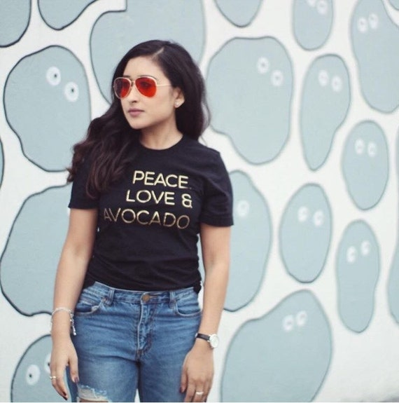 Peace, Love & Avocado/ Statement Tee / Graphic Tee / Statement Tshirt / Graphic Tshirt / T shirt