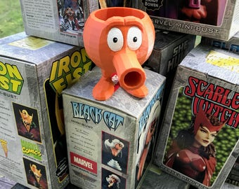 Q bert planter, Father's Day Gifts, q bert, Office decor , video game, old school, game, gift, husband gift,Christmas Gift, Holiday Gift