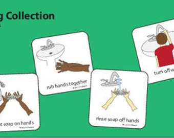 Hand Washing Picture Cards