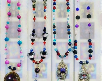 Art Jewel Necklace Handmade Jewelry Gifts - OnCanvas Set