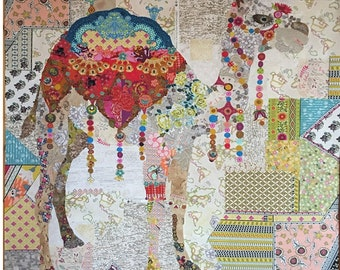 Camel Collage - Laura Heine Applique Quilt Pattern - Caleb Sirene Pattern - DIY Pattern Or Kit Option - full size reusable template pattern