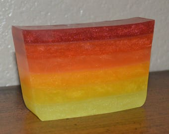 That is Mahogany! - Hunger Games inspired soap