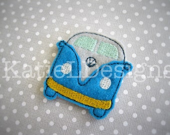 ITH VW Bus Feltie Machine Embroidery Design Pattern Download In The Hoop Felties Volkswagen
