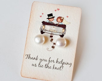 Bridesmaid Gift Jewelry Wedding Earrings Pearl Studs Dutchpearl Pearl Earrings - Gift for Bridesmaids Flower Girl Bridal Jewelry
