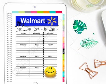 Digital Planner Walmart Shopping List